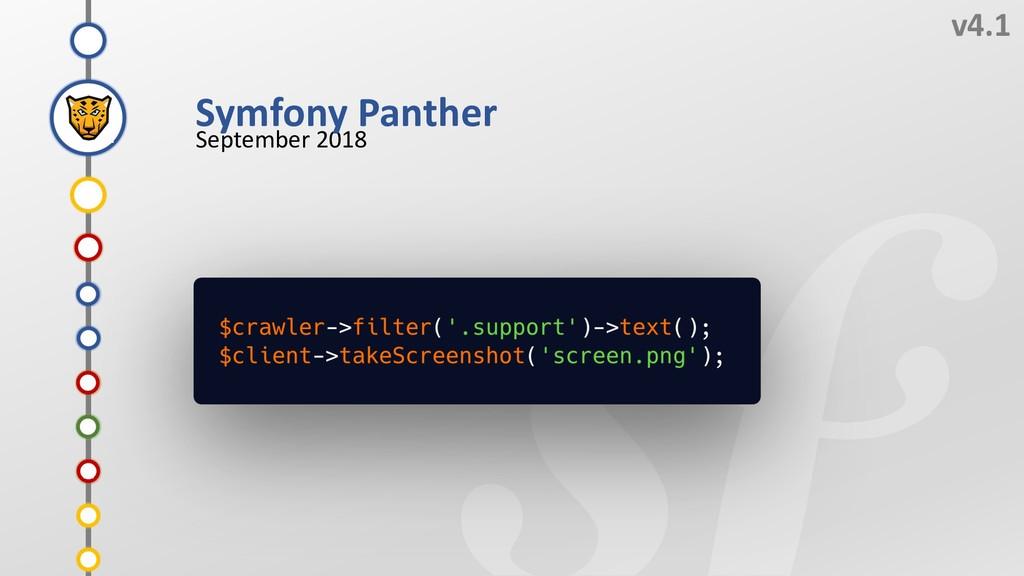 I v4.1 September 2018 G F H E Symfony Panther D...