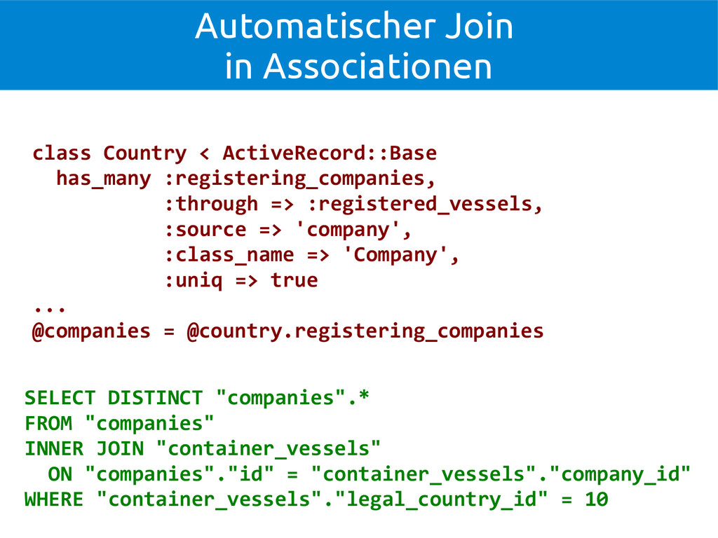 Automatischer Join in Associationen class Count...
