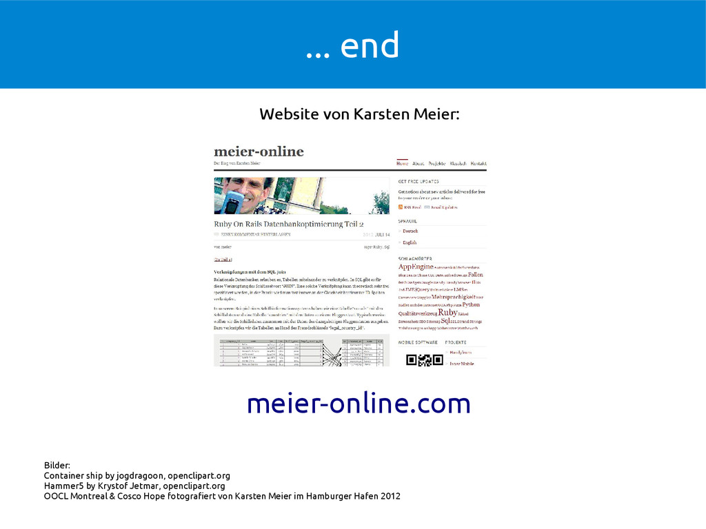 ... end meier-online.com Website von Karsten Me...