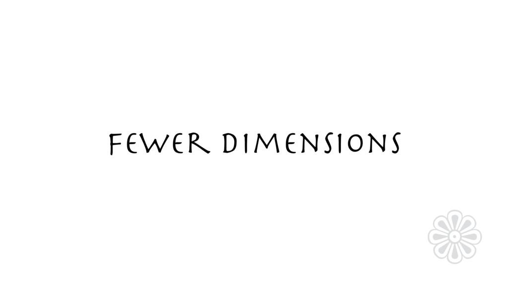 Fewer Dimensions ❁