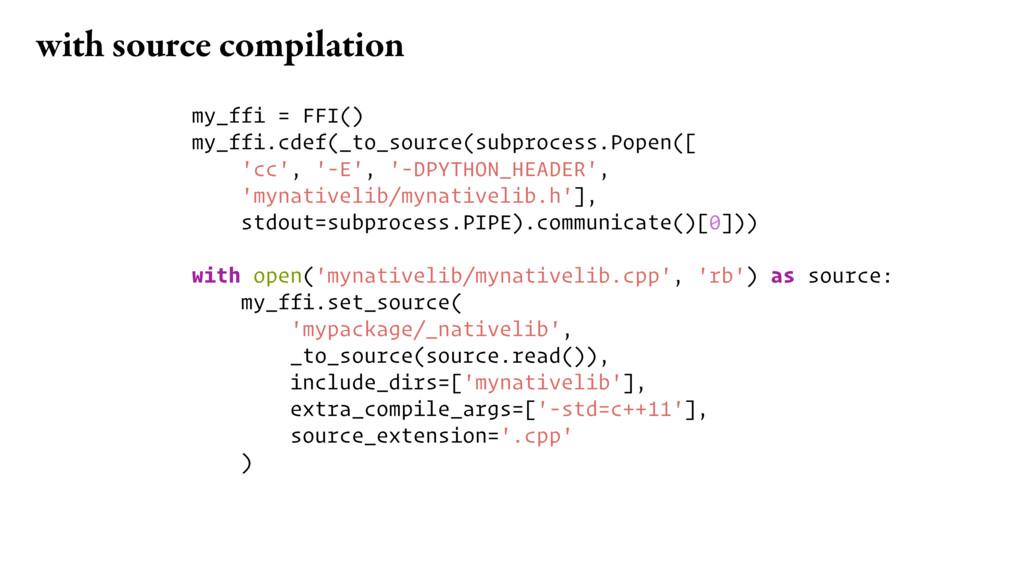 my_ffi = FFI() my_ffi.cdef(_to_source(subproces...