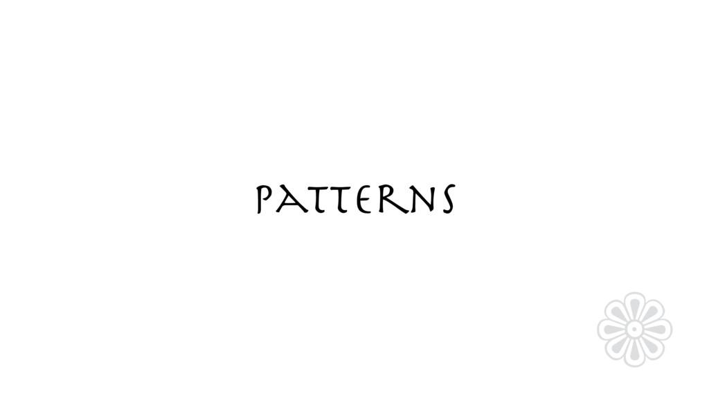 Patterns ❁