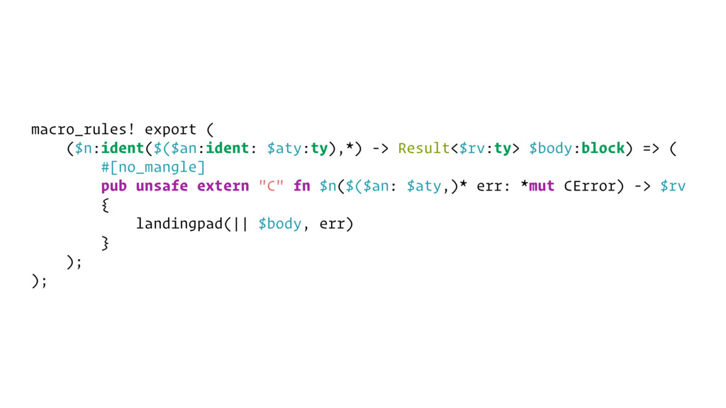 macro_rules! export ( ($n:ident($($an:ident: $a...