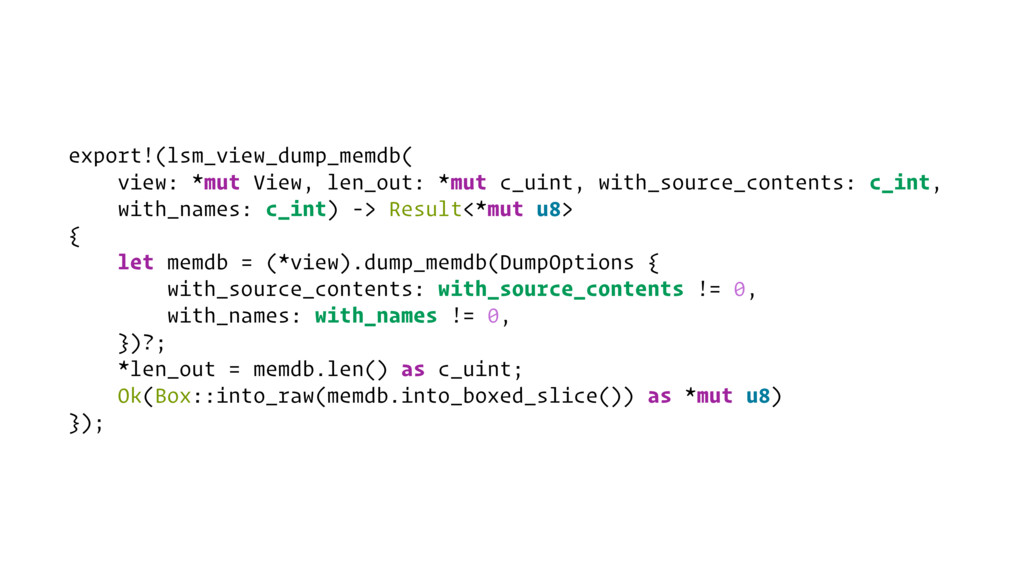 export!(lsm_view_dump_memdb( view: *mut View, l...
