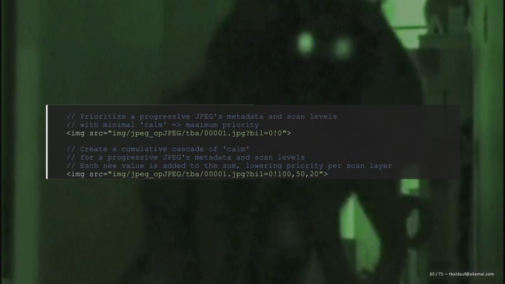// Prioritize a progressive JPEG's metadata and...