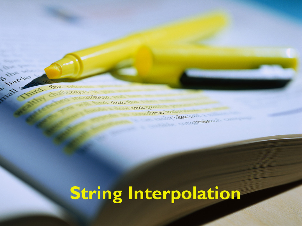 String Interpolation