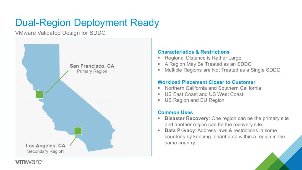 Dual-Region Deployment Ready VMware Validated D...