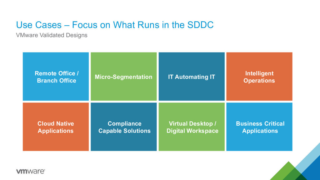 Use Cases – Focus on What Runs in the SDDC VMwa...