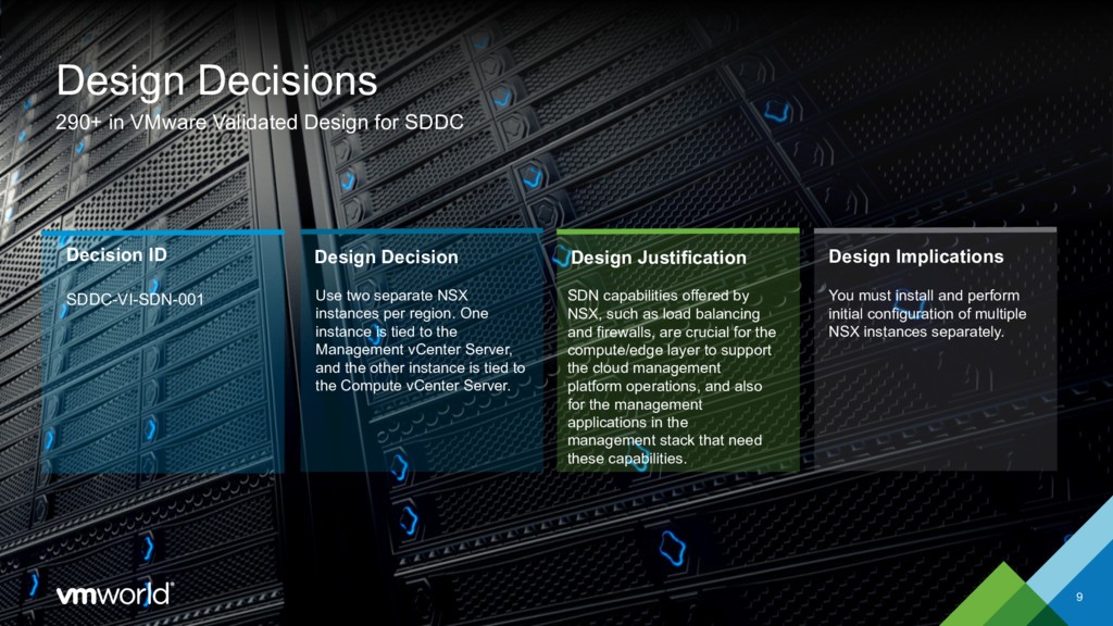 Use two separate NSX instances per region. One ...