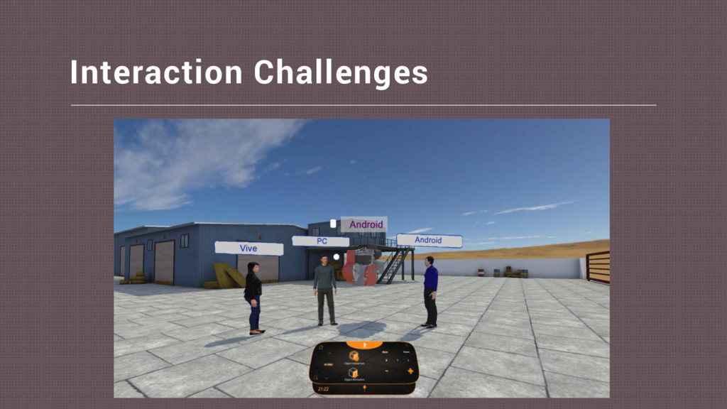 Interaction Challenges