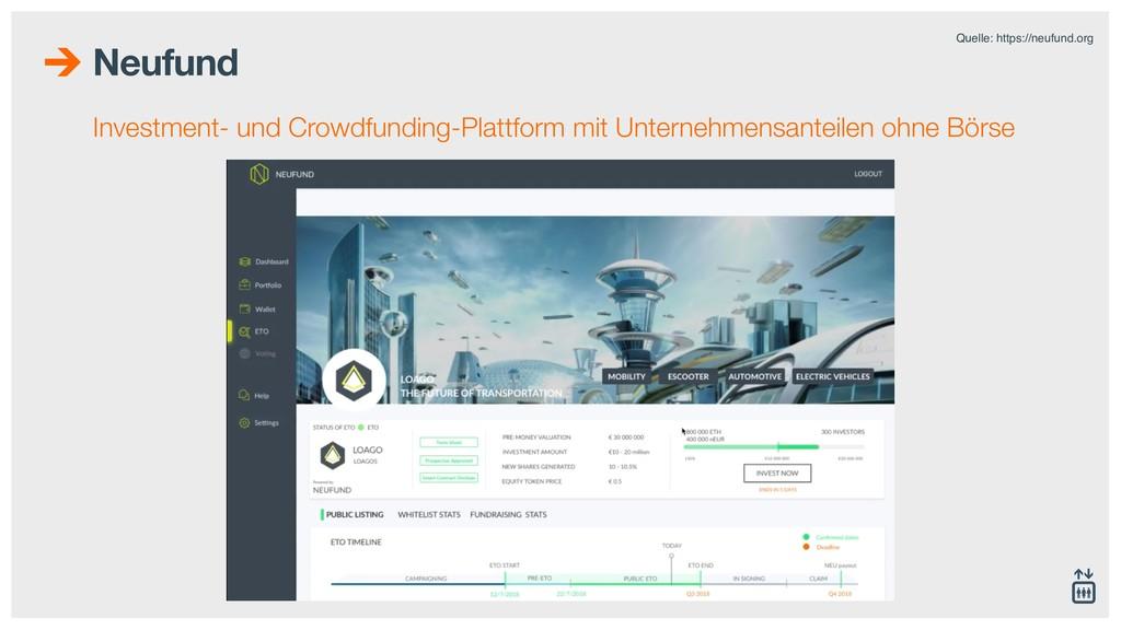 Neufund Investment- und Crowdfunding-Plattform ...