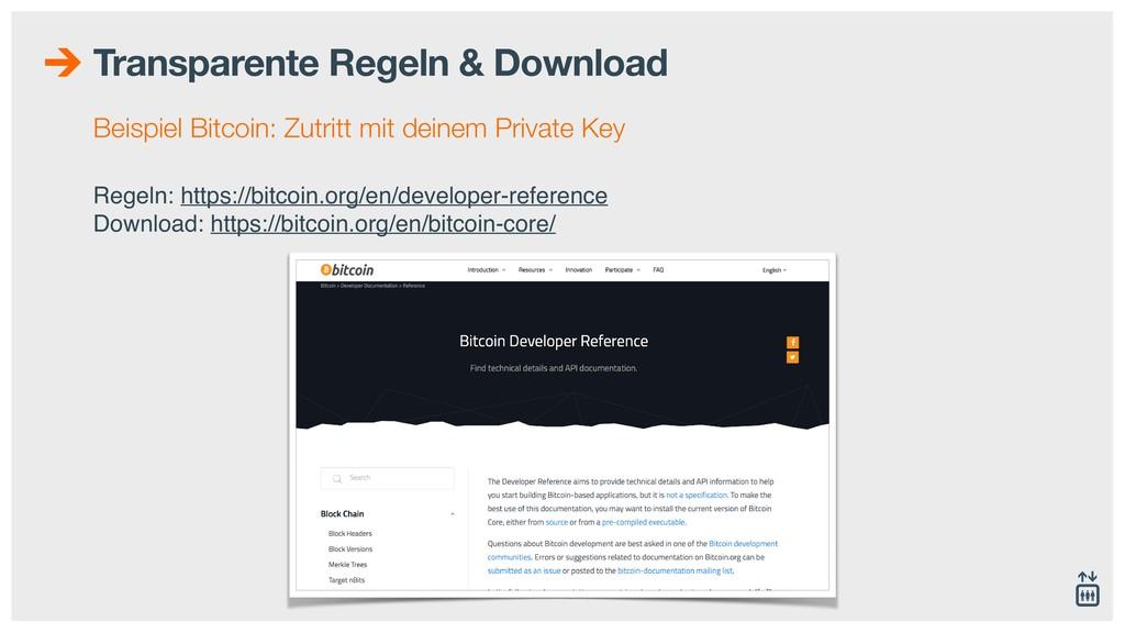 Transparente Regeln & Download Beispiel Bitcoin...