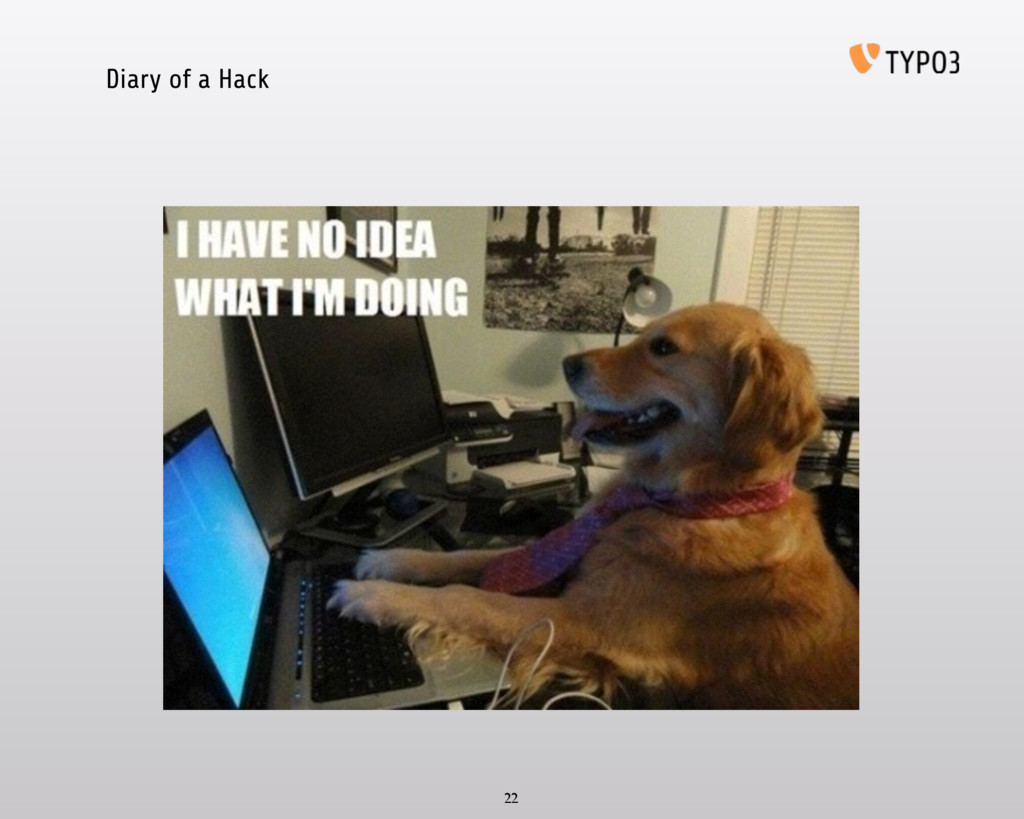 Diary of a Hack 22