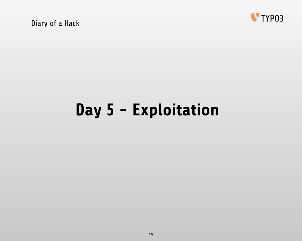 Diary of a Hack Day 5 - Exploitation 29