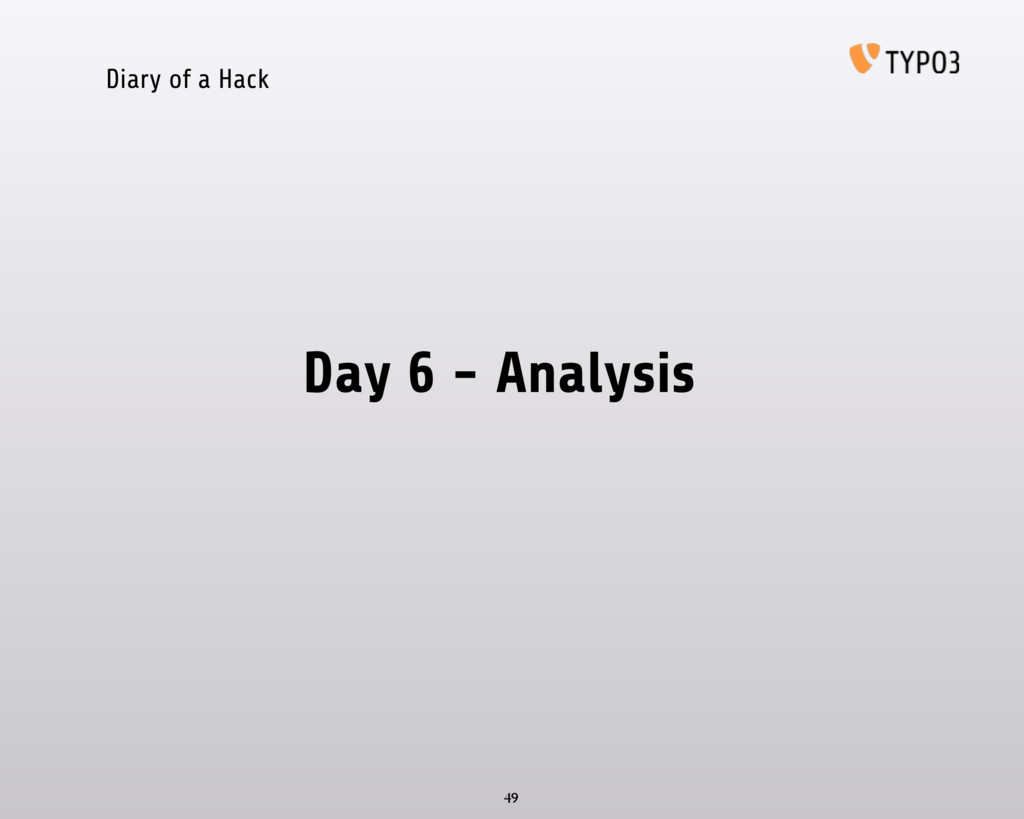 Diary of a Hack Day 6 - Analysis 49
