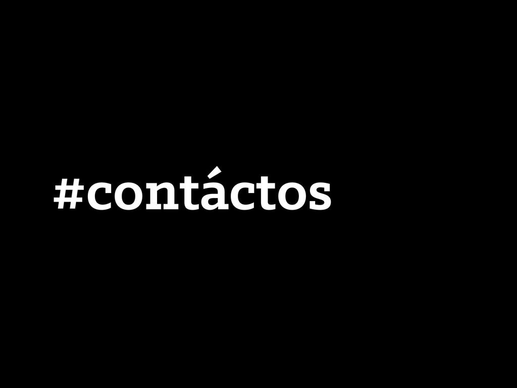 #contáctos