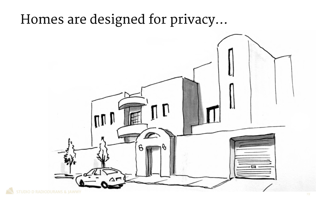 Homes are designed for privacy… STUDIO D RADIOD...