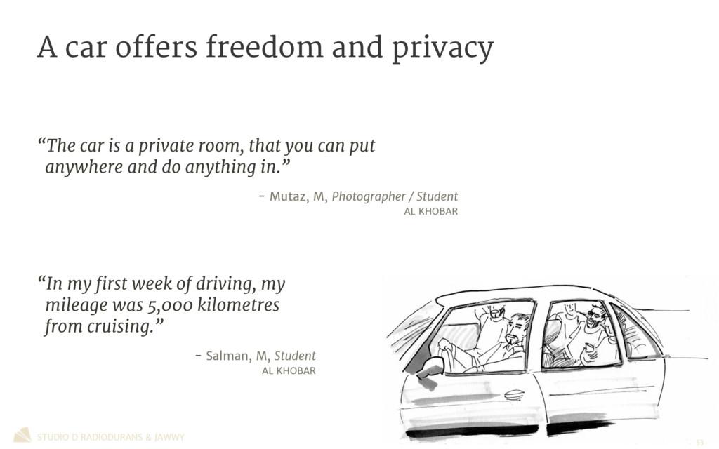 STUDIO D RADIODURANS & JAWWY A car offers freed...