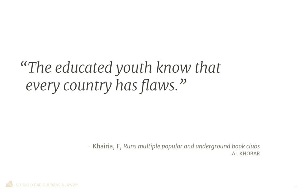 - Khairia, F, Runs multiple popular and undergr...