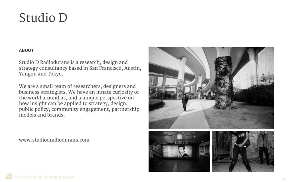 Studio D STUDIO D RADIODURANS & JAWWY ABOUT  St...
