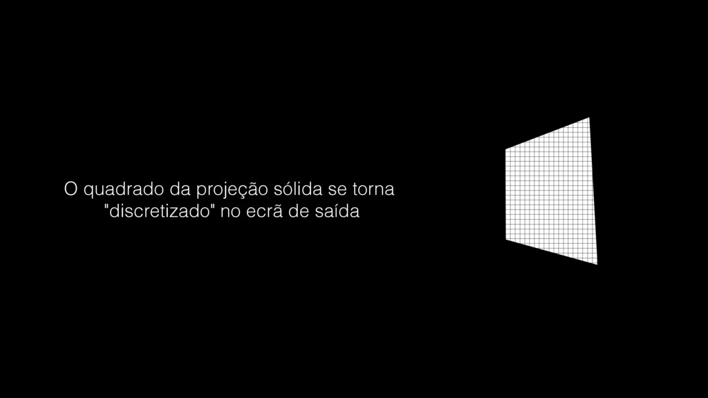 """O quadrado da projeção sólida se torna """"discret..."""