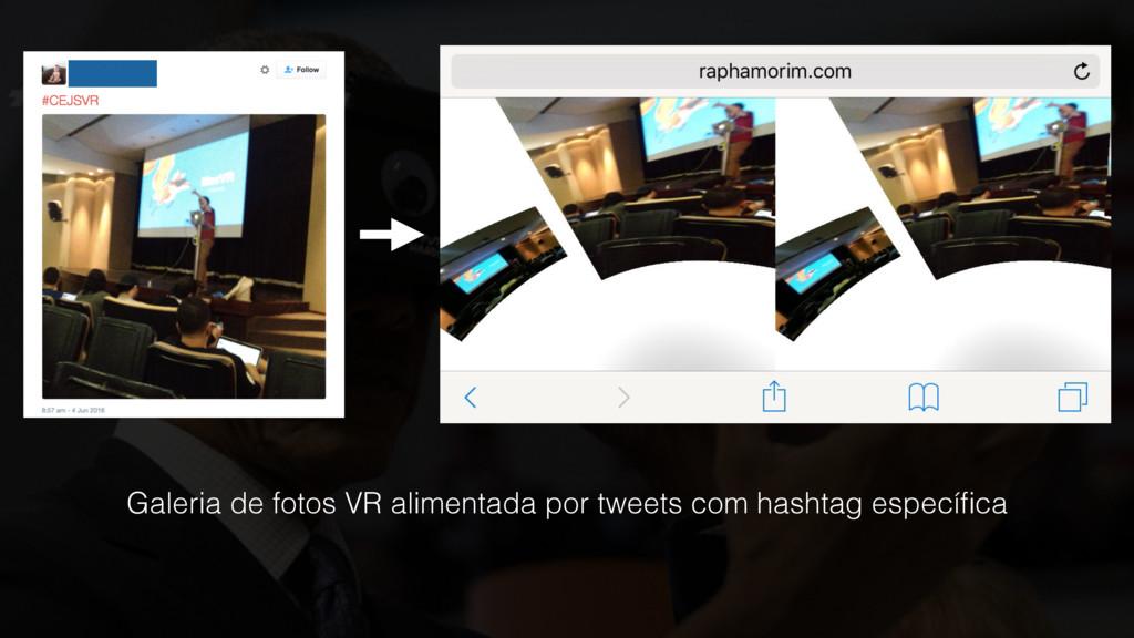 Galeria de fotos VR alimentada por tweets com h...