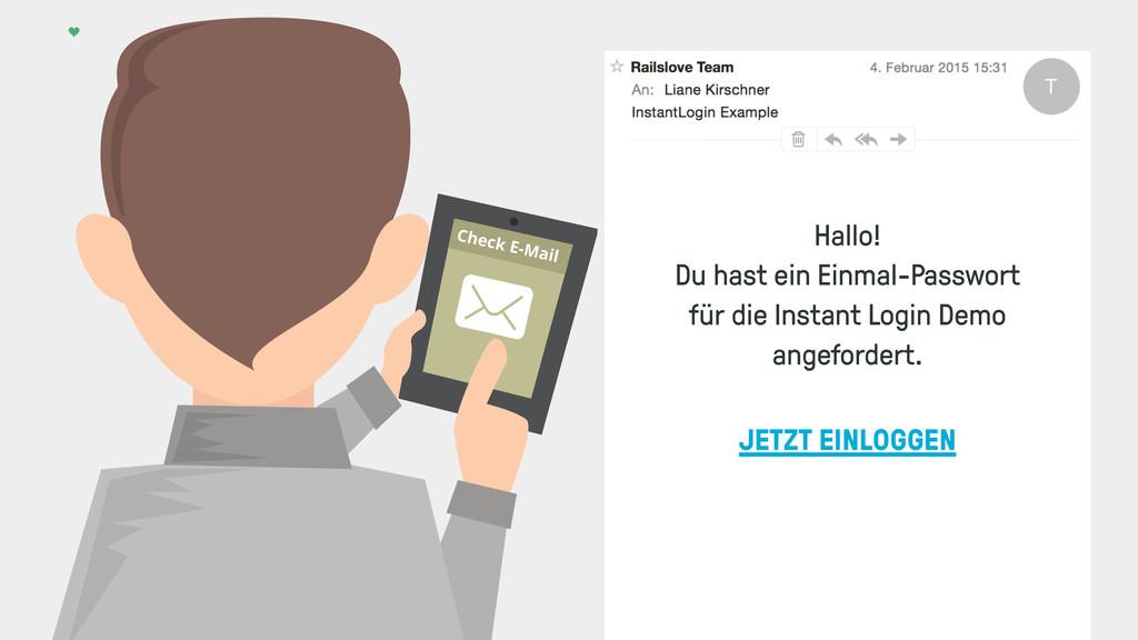Check E-Mail JETZT EINLOGGEN Hallo! Du hast ein...