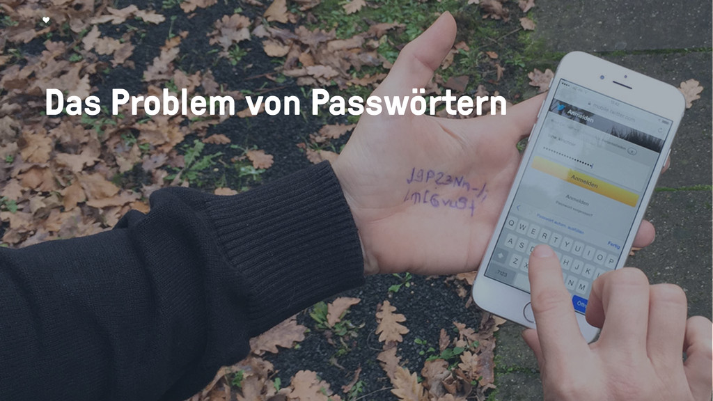 Das Problem von Passwörtern
