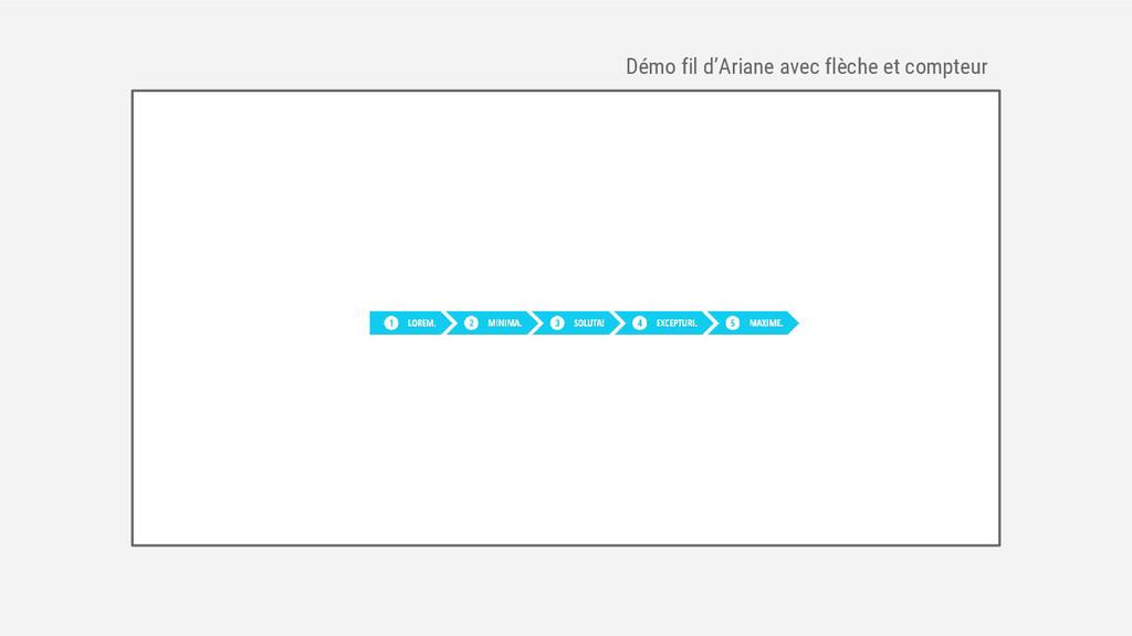 Démo fil d'Ariane avec flèche et compteur