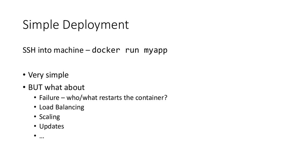 Simple Deployment SSH into machine – docker run...