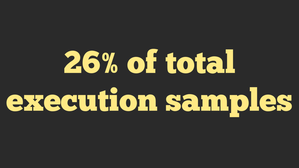 26% of total execution samples