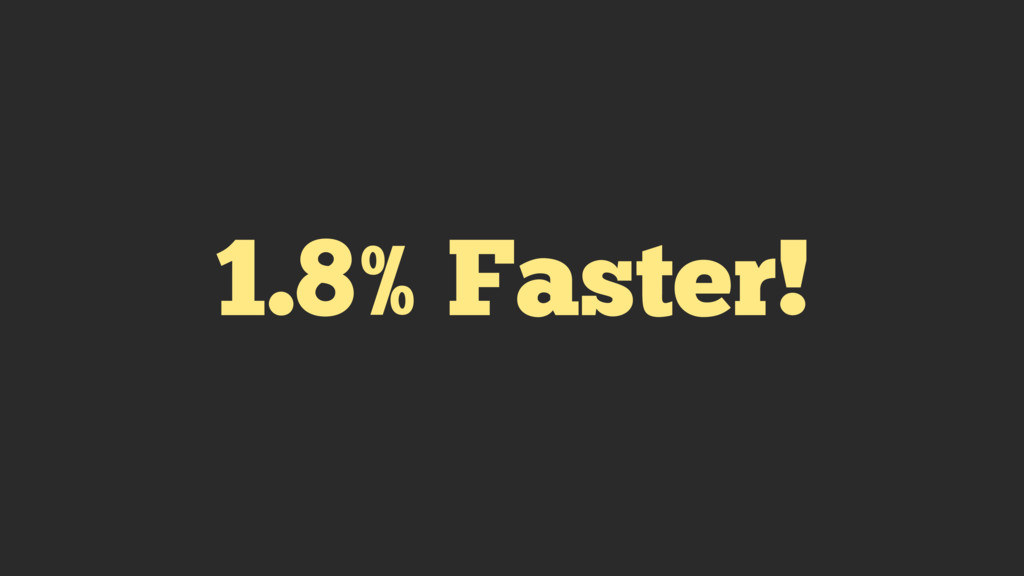 1.8% Faster!