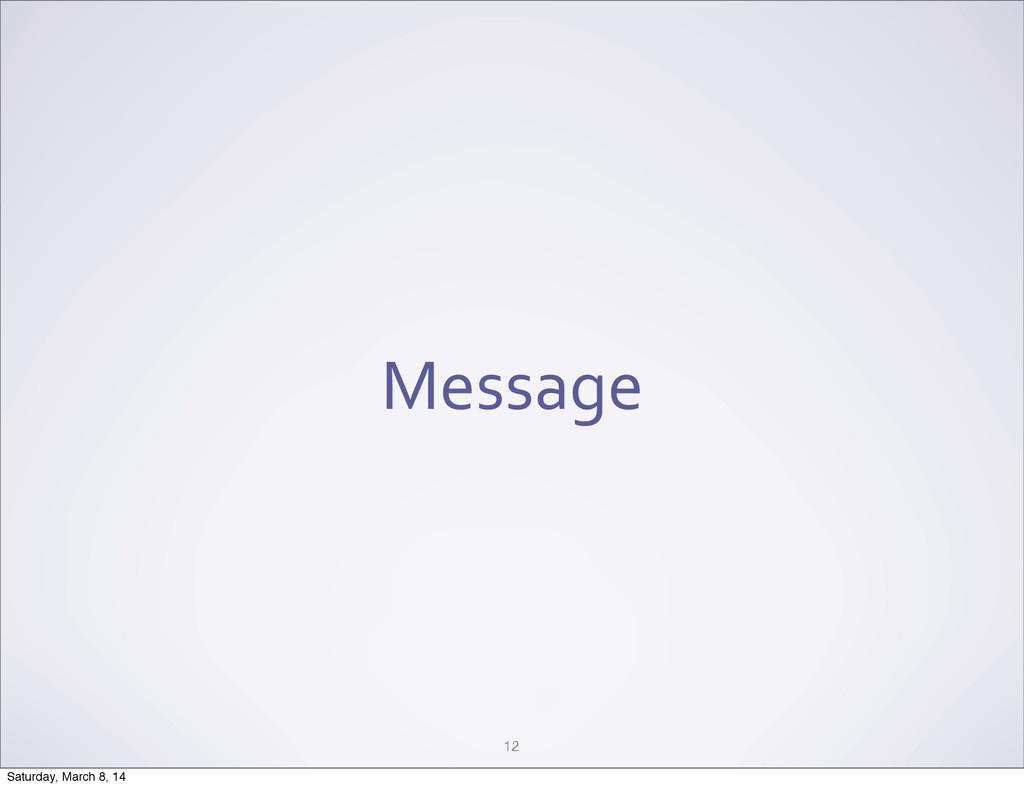Message 12 Saturday, March 8, 14