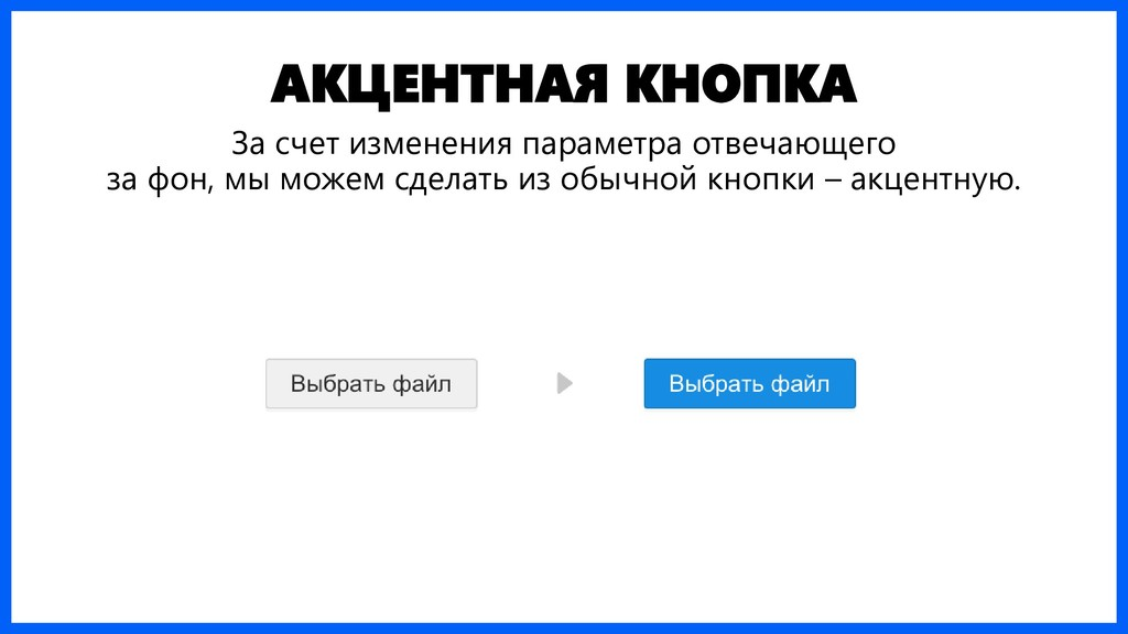 АКЦЕНТНАЯ КНОПКА За счет изменения параметра от...