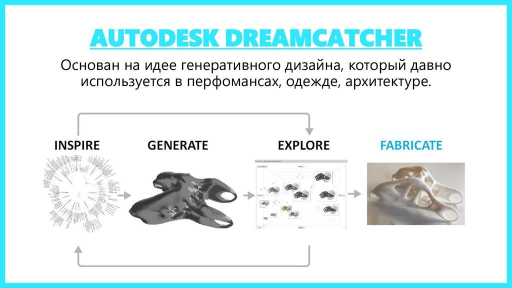 AUTODESK DREAMCATCHER Основан на идее генератив...