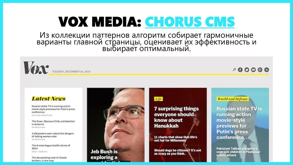 VOX MEDIA: CHORUS CMS Из коллекции паттернов ал...