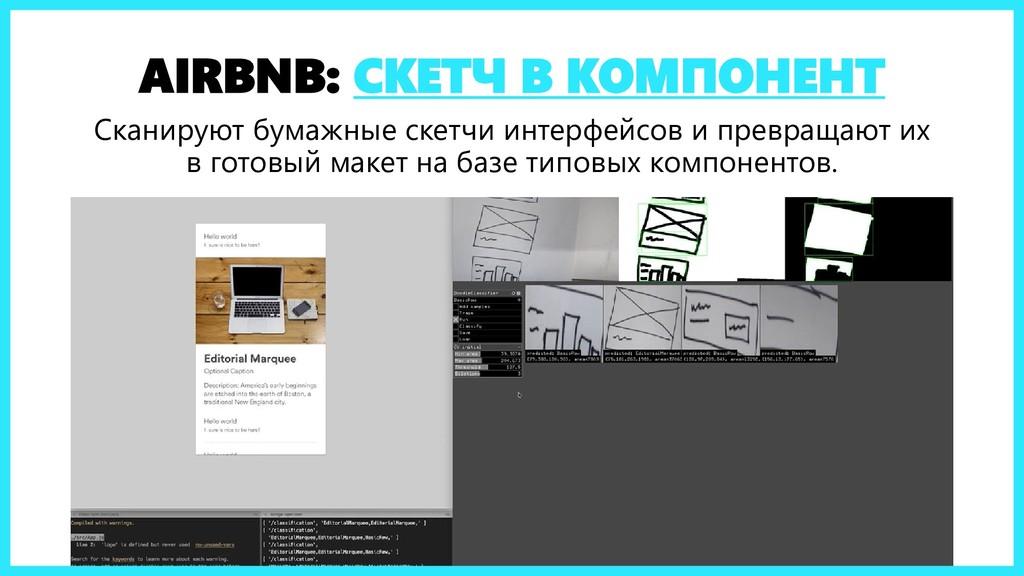 AIRBNB: СКЕТЧ В КОМПОНЕНТ Сканируют бумажные ск...