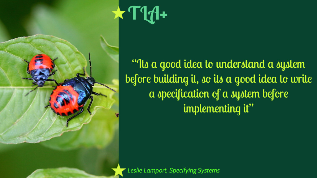 "Leslie Lamport, Specifying Systems ""Its a good ..."