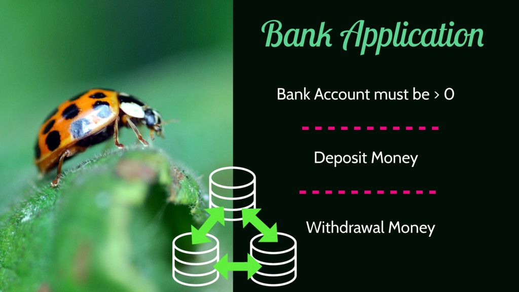 Bank Application Bank Account must be > 0 Depos...