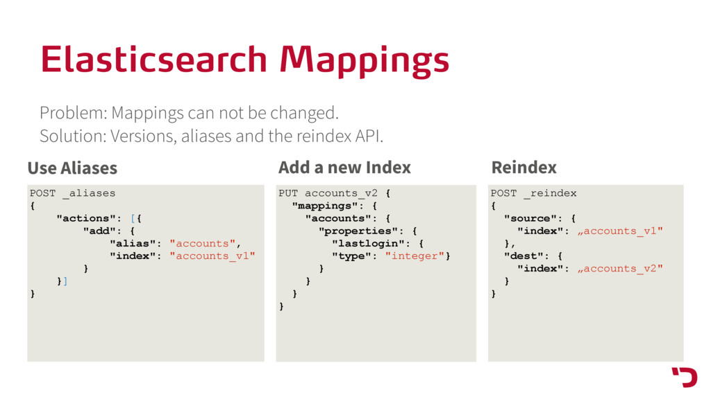Elasticsearch Mappings Problem: Mappings can no...