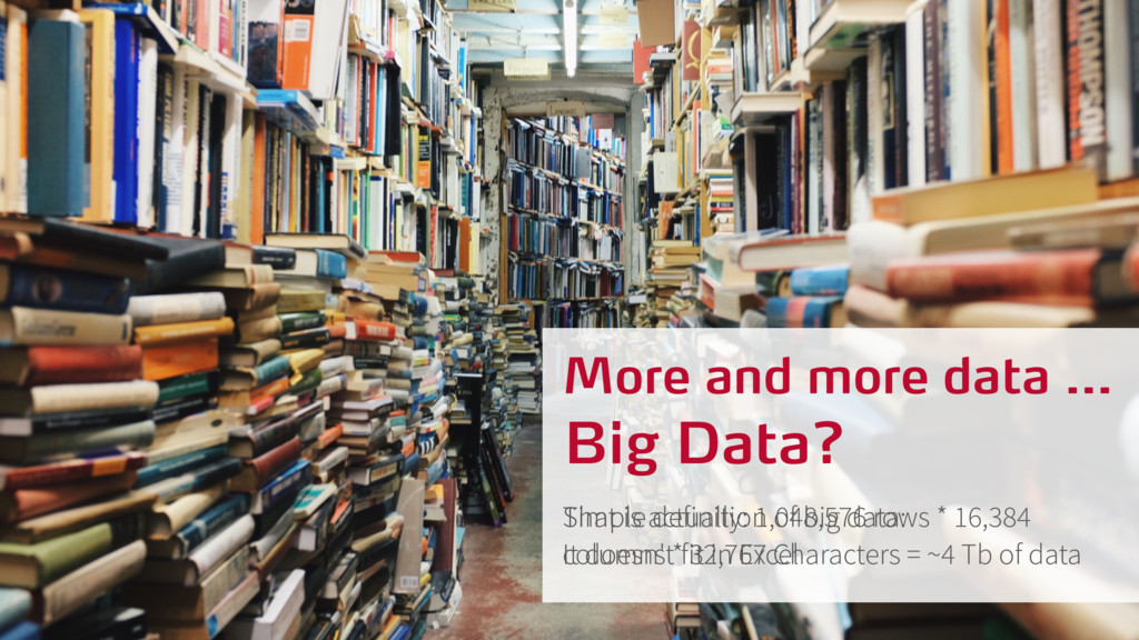 More and more data … Simple definition of big d...