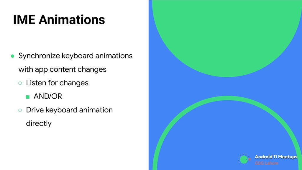 GDG Lahore IME Animations ● Synchronize keyboar...