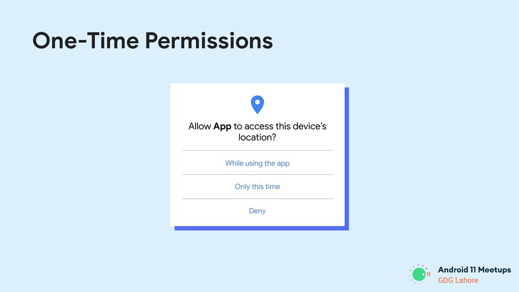GDG Lahore One-Time Permissions