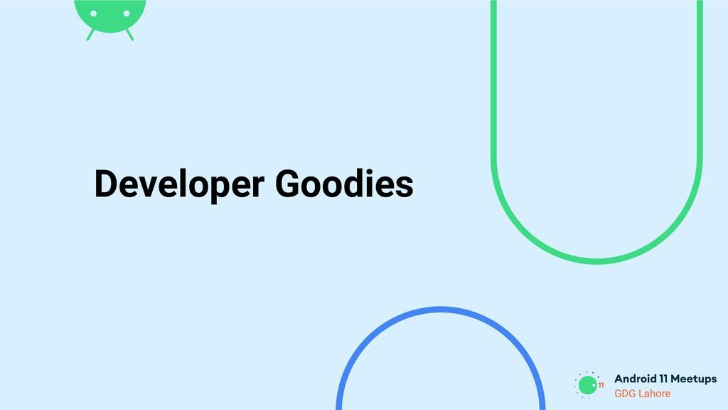 GDG Lahore Developer Goodies