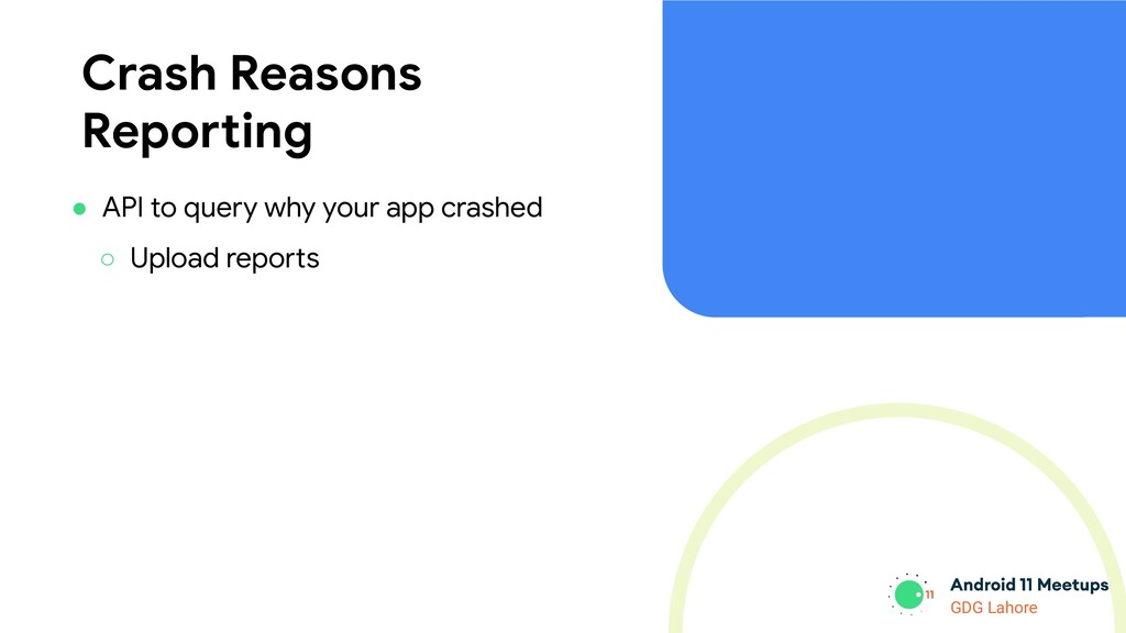 GDG Lahore Crash Reasons Reporting ● API to que...