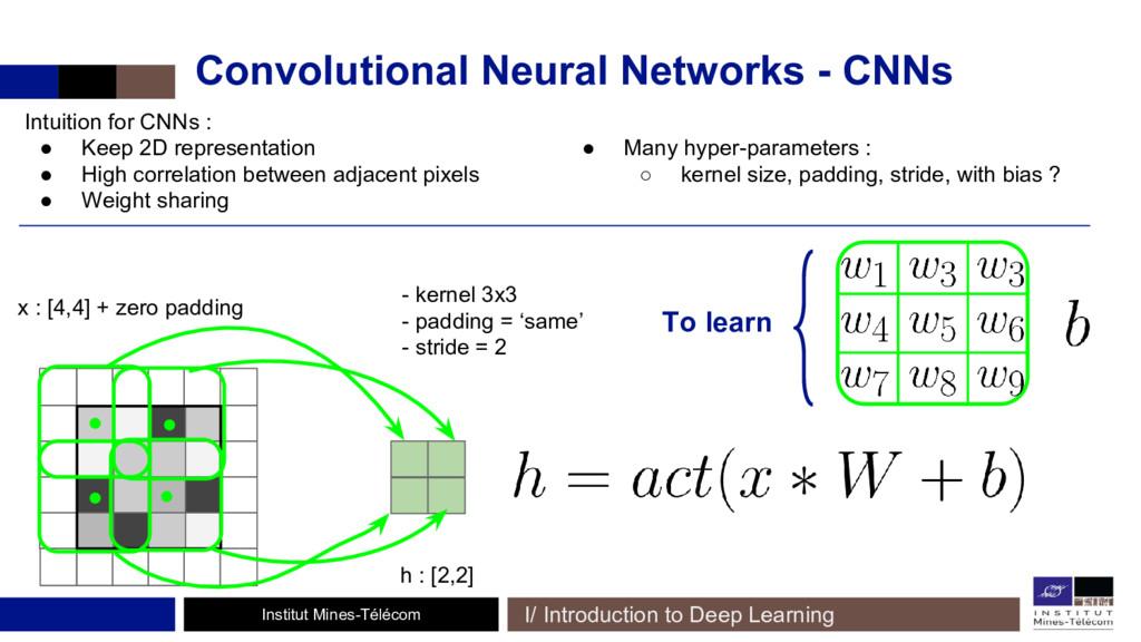 Institut Mines-Télécom Convolutional Neural Net...