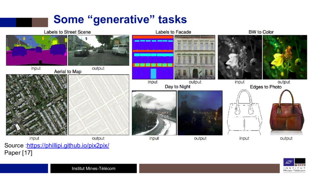 "Institut Mines-Télécom Some ""generative"" tasks ..."
