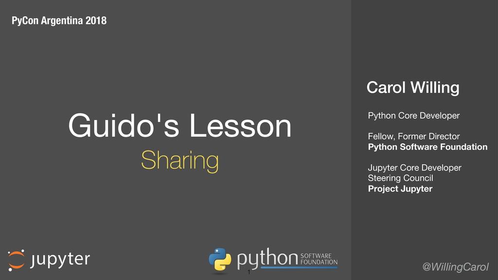 Carol Willing @WillingCarol Guido's Lesson  S...
