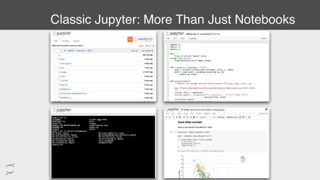 Classic Jupyter: More Than Just Notebooks
