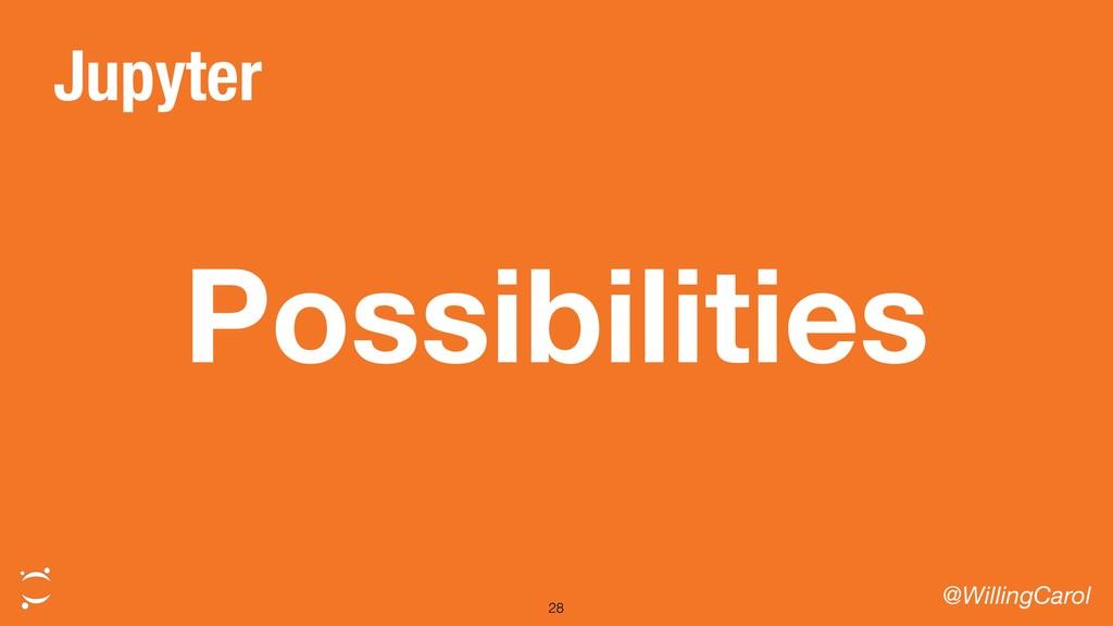Possibilities @WillingCarol 28 Jupyter